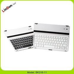 Ultra thin design keyboard case for ipad air, Ultra thin case with keyboard for ipad, aluminium keyboard for ipad