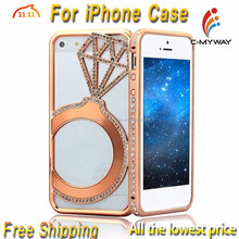 Diamond Series Bling Bling Crystal Rhinestone Moblie Phone Case Hard Cover For iPhone Samsung LG +Customize Design Best Gift