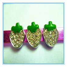 Wholesale DIY Enamel Rhinestone Strawberry Slider Charms