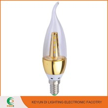 2015 New arrival energy saving Aluminium & Plastic candle led lamp e14 3W led candle light