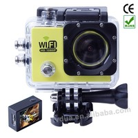 2015 new product 170 degree view angle wifi waterproof helmet bicycle motorcycle camera