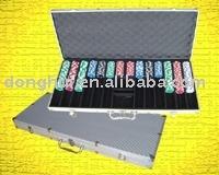 Portable ABS surface poker chips case