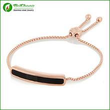New gold modelos de pulsera acero inoxidable venta al por mayor brazalete de jade S6-0097