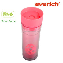 BPA free protein shaker cup with blender ball