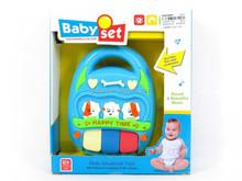 Funny plastic 3 keys musical toy light up baby electronic organ EN71 ASTM