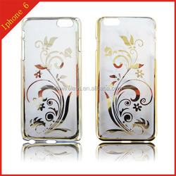 mobile phone shell for iphone 6,tpu material cover for iPhone 6,plating pattern case for iPhone 6