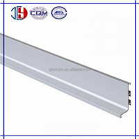 Popular L shape aluminum hidden kitchen cabinet handle profiles