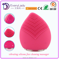 EveryLady silicone cleaning brush massage vibrator facial