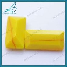 Lovely milky-yellow rectangle bulk glass gemstones wholesale
