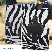 high quality Zebra stripes blanket pu leather case for ipad air tablet cover case