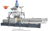 Co-rotating Twin-screw Extruder for plastic recycling film making