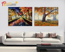 Contemporary knife art oil painting picture building