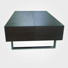 High quality coffee table with stainless steel legs