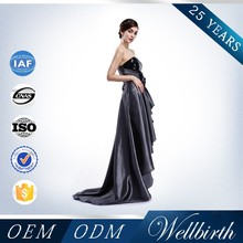 Black sequins short front long back free pattern evening dresses WB1204