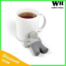 2015 hot selling silicone Mr.tea infuser