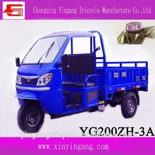 Especial 200CC refrigerado por agua del motor para camión de carga de tres ruedas, Popular motos en China