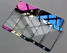 Hot! New! mirror color tempered glass tempered glass screen protector for iphone china price