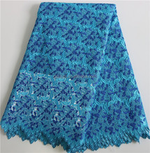 Beautiful & Special Desigh Lace Fabrics XZ255C-4 China Polyester Material/Navy Blue African Cord Lace/Dress Design Guipure Lace