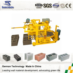 QT40-3A Moving hollow brick machine alibaba express/ concrete moving brick making machine price/ Moving brick machine
