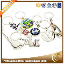On Stop Free design Promotion Custom Key Chain, Silver Metal Key Chain Wholesale