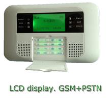 wireless gsm alarm system with pstn burglar alarm panel
