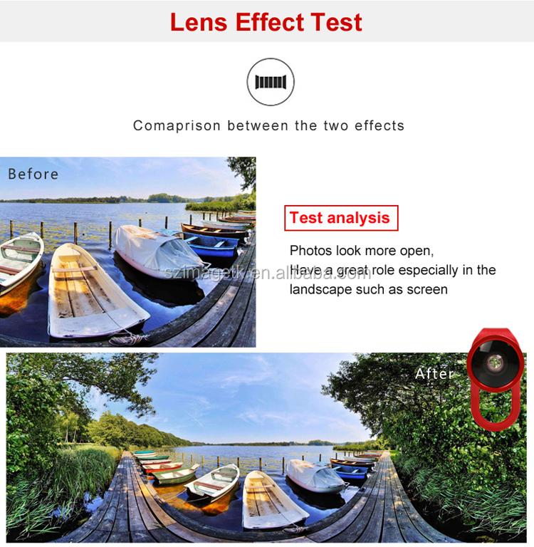 4 em 1 útil 0.4 X grande angular câmera com zoom lens para o telefone móvel