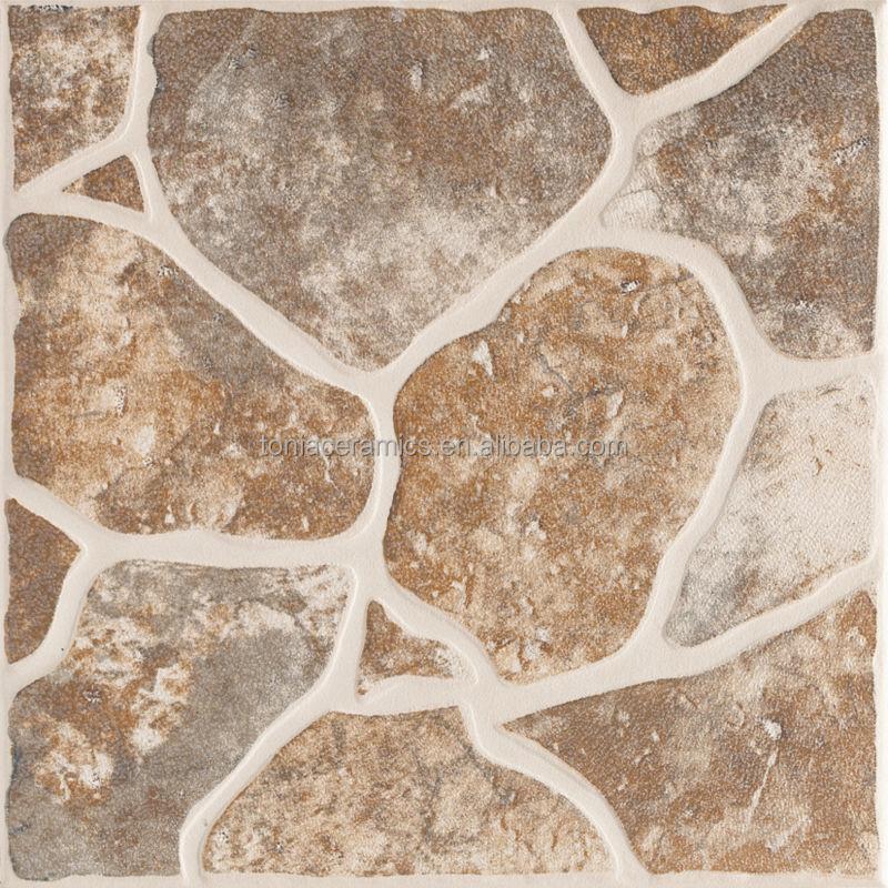 Foshan Tonia 40x40 Cobblestone Antique Design Ceramic Non Slip Floor