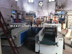 SHXJ-E600 series full automatic T-shirt hot sealing cold cutting bag making machine