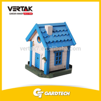 Supermarket DIY supplier cheap wooden decorated bird house