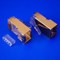 Internet Cable 8 Pin RJ45 Connector 8 Pin Connector with Gold-plated Copper Shell