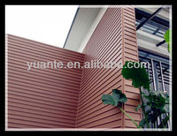 2013 hot sale eco-friendly innocuous flexible decorative exterior and internal solid wood plastic composite/wpc wall panel
