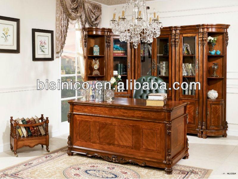 Americano antico legno massello sala studio scrivania set - Mobili stile americano ...