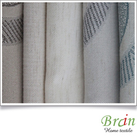 new style poly cotton linen jacquard european curtain fabric