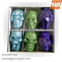 Halloween glittered foam skulls for sale