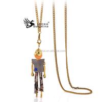 Cute Doll Necklaces For Girls,18K Gold Pendants Neckalces Wholesale Price,Fashion Necklaces New Design