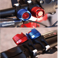Mountain Bike Cycling Red LED Warning Light,Waterproof Front Handlebar LED Bicycle Lamp with CR2032 Battery
