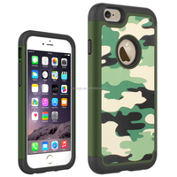 Cell phone accessory Camouflage Pattern Shockproof 2 in 1 PC+TPU Hybrid Case shockproof case for iphone 6 china suppliers