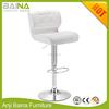 Modern PU leather white bar stools with backs
