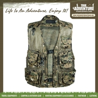 True Adventure TC-A012 Outdoor Camping Hunting Fishing Men Colete Camouflage Jungle Army Green Mens Denim Vest Multi Pocket Vest