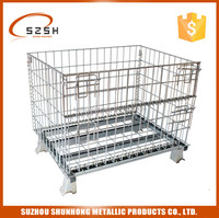 foldable wire mesh storage container for sale