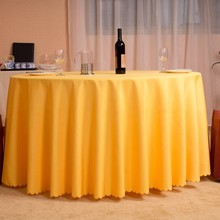 Bottom price yellow jacquard table cloth for hotel