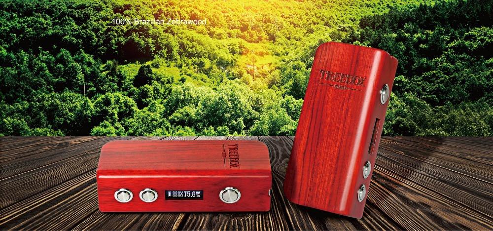 100% Brazilian Zebrawood SMOK Treebox Mini Box Mod 75W