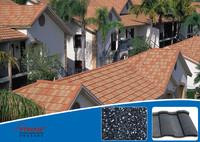 natual gray shingle tile stone coated roof tile