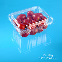 Customized Folded Clamshell Fruits PET Folded Clamshell Container