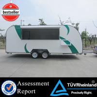2015 hot sales best quality pushed food van food vending van CE ISO UL EEC food van