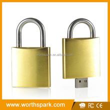 promotional items lock shape usb flash drive 1-32gb