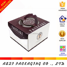 creative design food grade paper cardboard bread box with handle