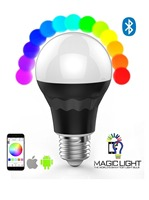 Bluetooth Smart LED Light Bulb - Smartphone Controlled Dimmable Multicolored Color Changing Lights 7 watt led bulb
