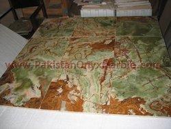 BEDROOM FLOOR TILES/DARK GREEN ONYX TILES