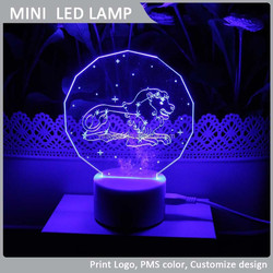VLL-010-Leo new products on china market table lamp led flashlight with acrylic material different constellation available